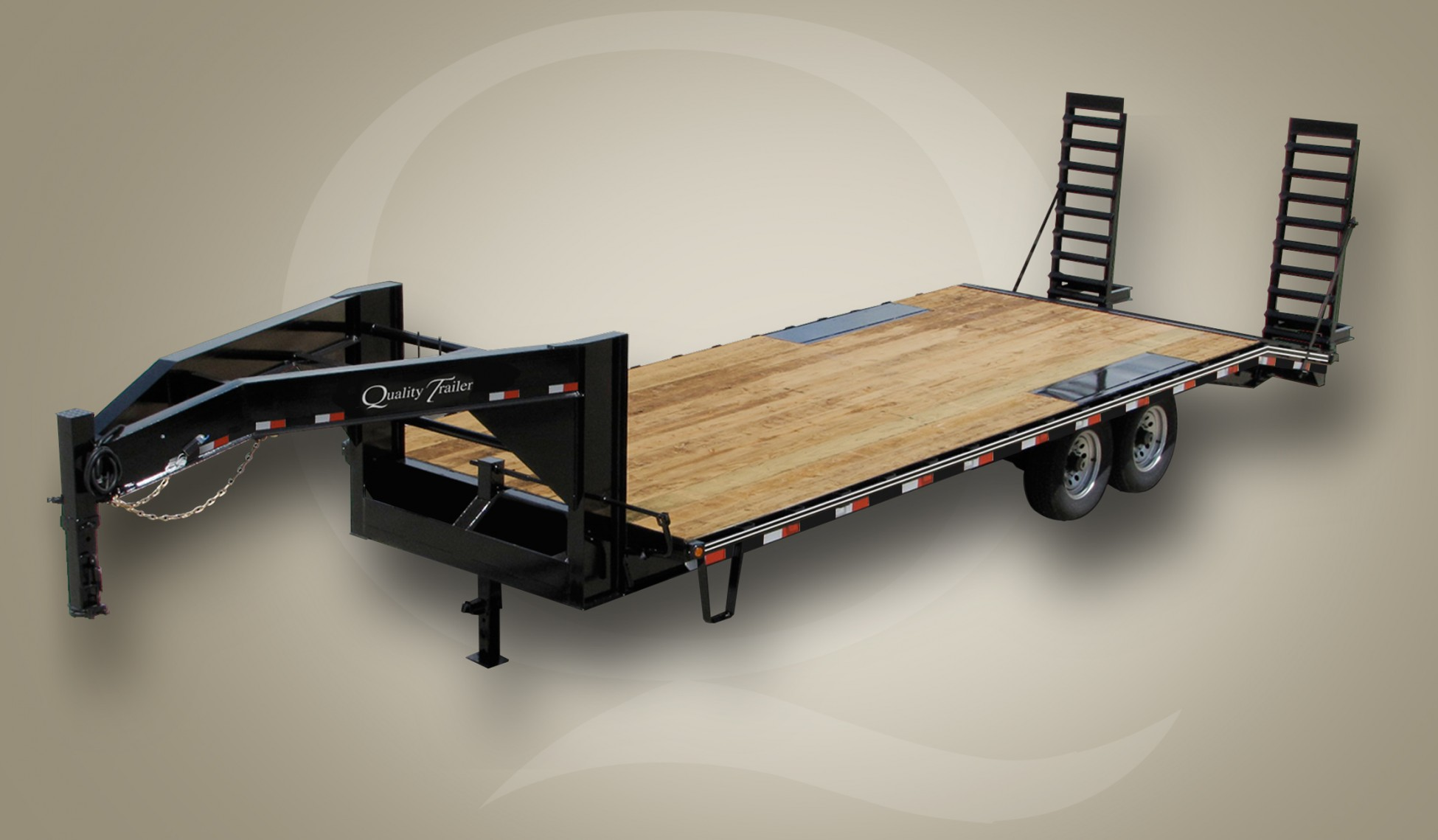 Skid Steer Gooseneck Wood Floor Trailer