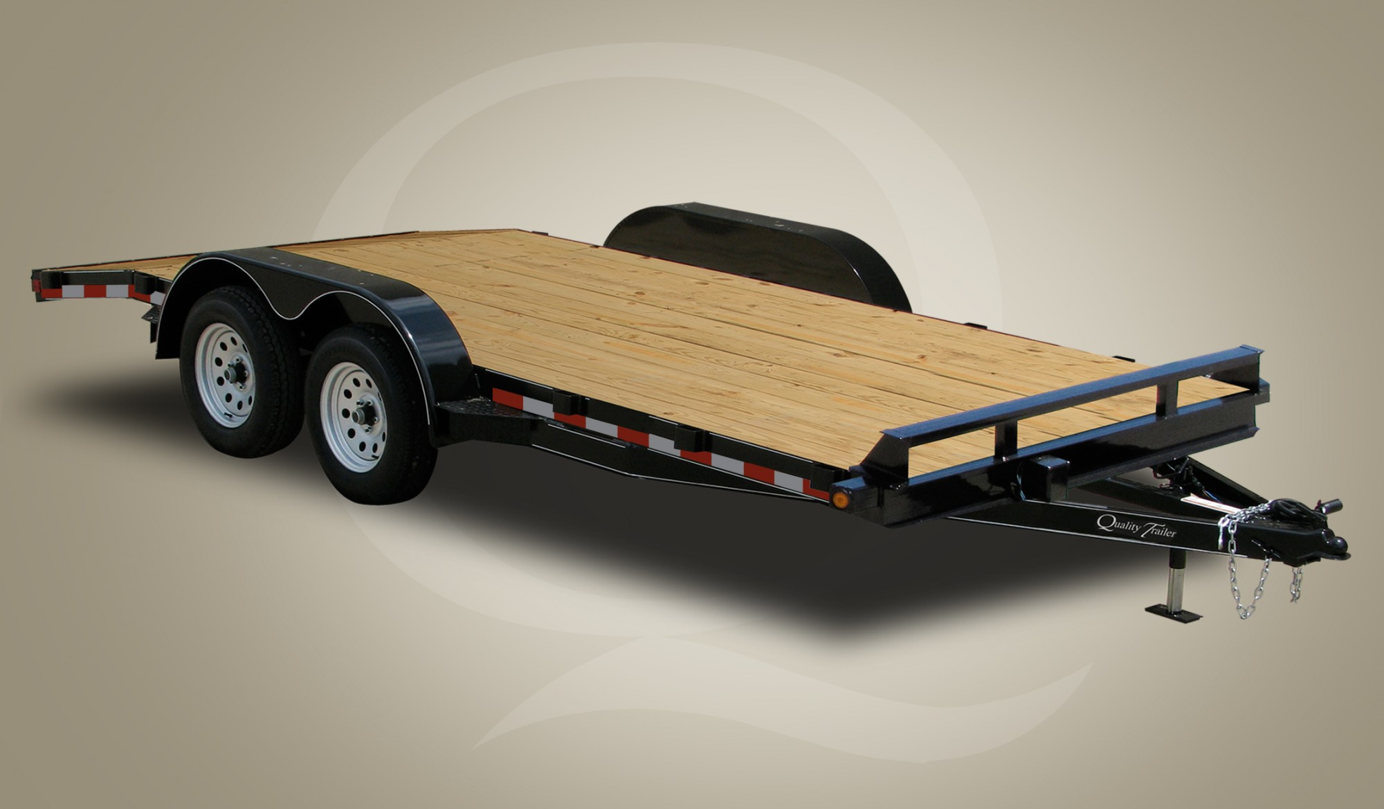 Wood Floor Car Hauler Trailer ...