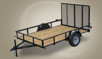 Single Axle Wood Floor Trailer