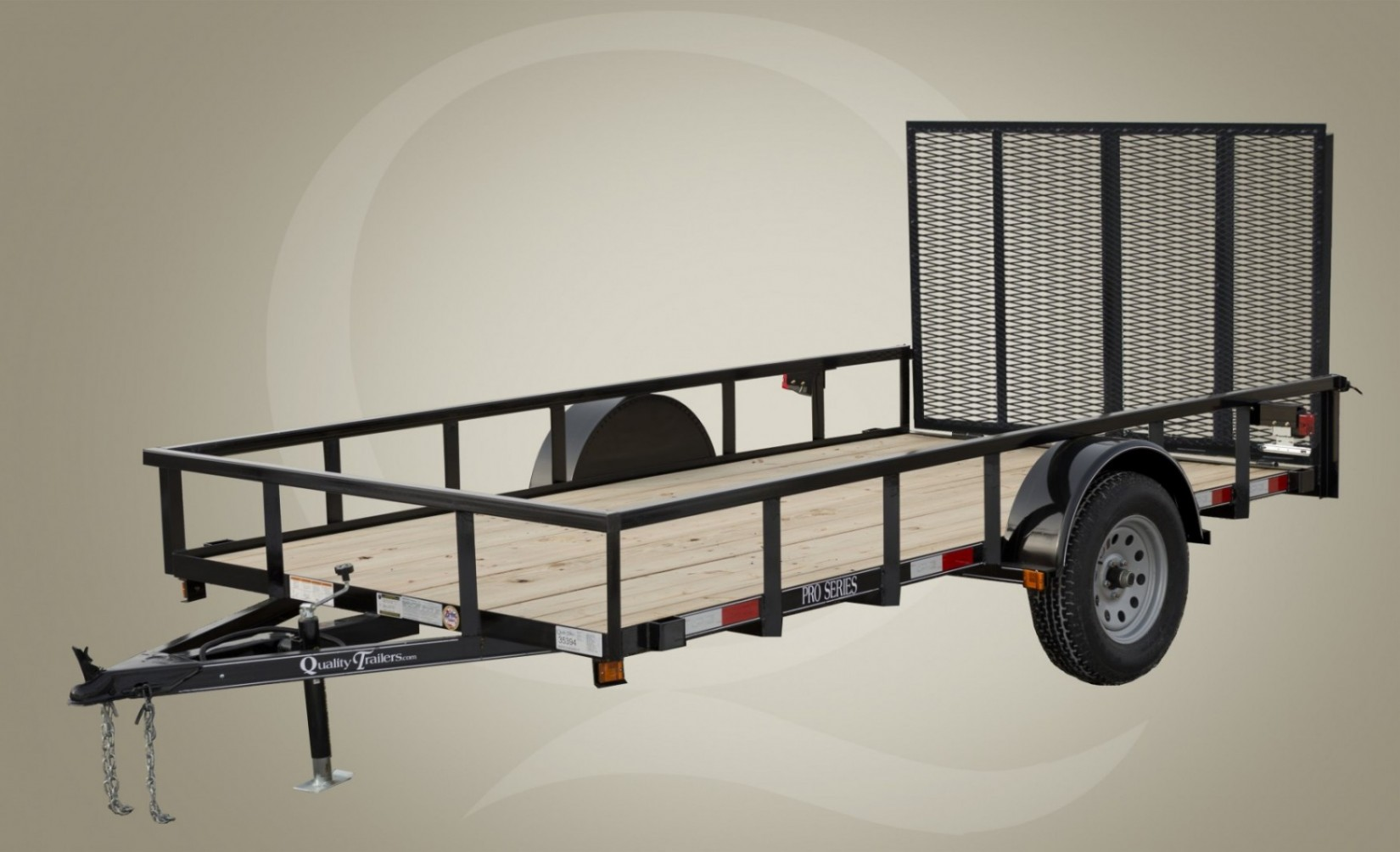 Tandem Wood Floor Equipment Trailer