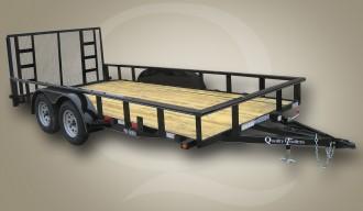 Tandem Wood Floor Equipment Trailer