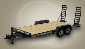 Skid Steer Wood Floor Equipment Trailer