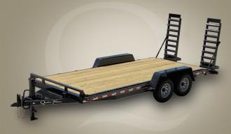 Skid Steer Wood Floor Equipment Trailer