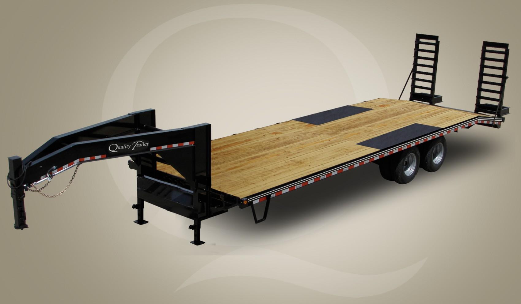 Skid Steer Wood Floor Gooseneck Trailer
