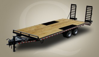 Skid Steer Wood Floor Trailer Professional Grade