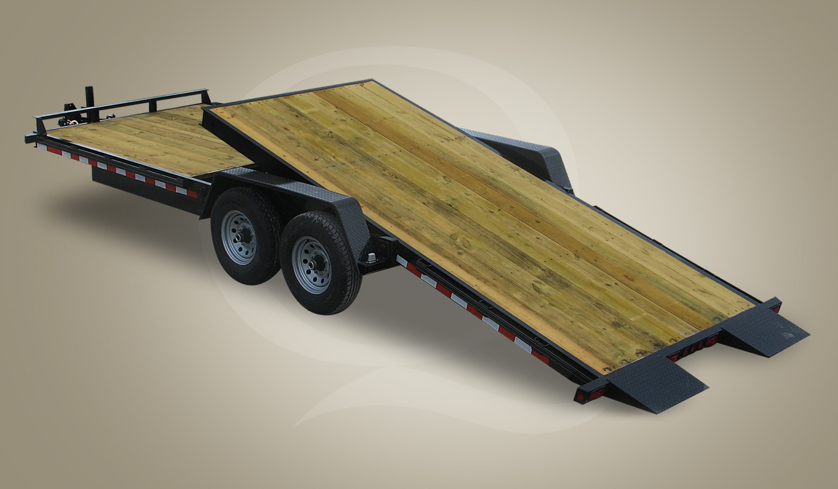 Wood Floor Tilt Trailer