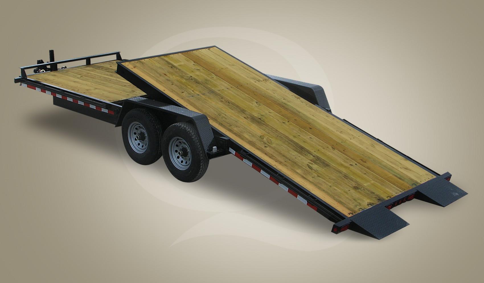 Wood Floor Tilt Trailer