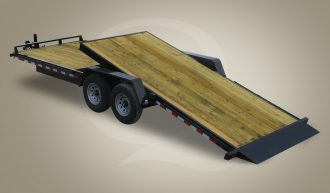 Wood Floor Tilt Equipment Trailer - Quality Trailers